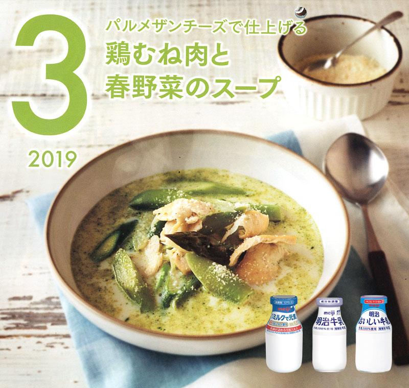 鶏むね肉と春野菜のスープ